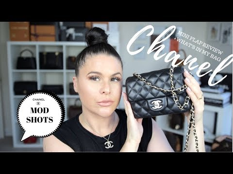 CHANEL MINI FLAP BAG REVIEW + WHATS IN MY BAG?!| Jerusha Couture