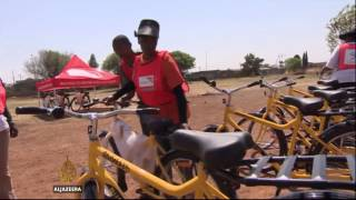 Children pedal to punctuality in South Africa