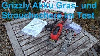 Grizzly Akku Gras Schere Strauch Schere Akku AGS 3680 D Lion im Test Rasenschere