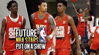 Future NBA Lottery Picks GET BUSY at 2019 Nike Elite 100 ft. Emoni Bates, Terrence Clarke, Zion Cruz
