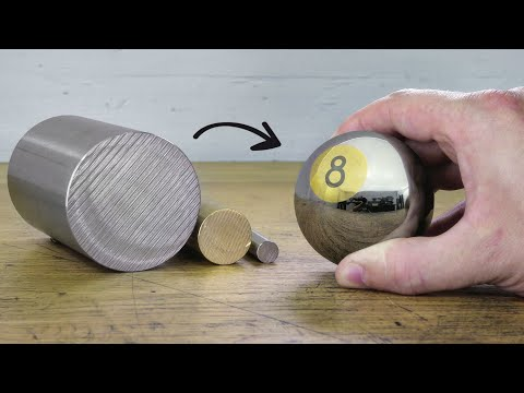 Making an 8 Ball Out of Stainless Steel and Brass
