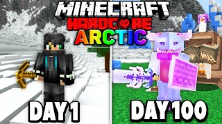 I Survived 100 Days of Hardcore Minecraft in the Arctic.. Here's What Happened..