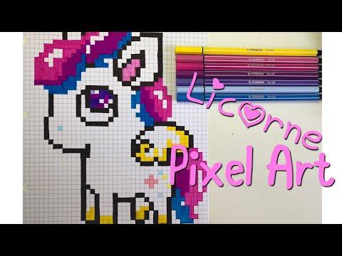 Dessin Pixel Caca Licorne