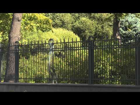 Городской забор на винтовых сваях