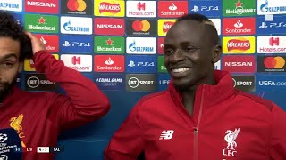 """""""Finally Andy Robertson scored!"""" Mo Salah and Sadio Mane are over the moon for their teammate"""