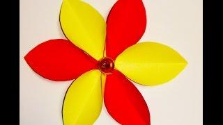 Украшения из бумаги .Handmade,Цветок из бумаги.flower