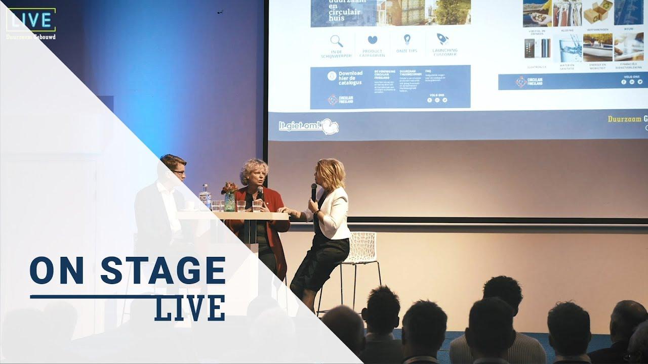 Duurzaam Gebouwd Congres Live on Stage: Douwe Faber en Houkje Rijpstra