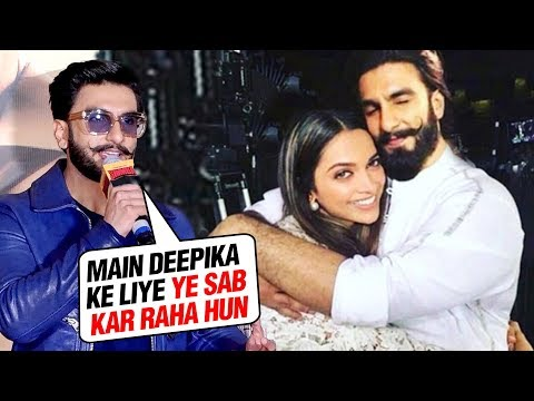 Ranveer Singh REACTS On LIVING In Deepika Padukone