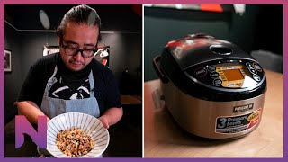 Zojirushi Rice Cooker Unboxing + Donabe Rice w/ Michelin Star Chef