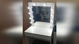 Туалетный столик с зеркалом ящиками и подсветкой от компании Витрина МАГ - видео