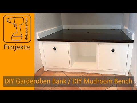 DIY Garderoben Sitzbank / DIY Mudroom Storage Bench (with english subtitle)