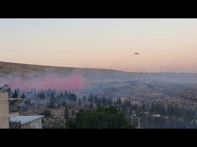 צפו - שריפת ענק בירושלים