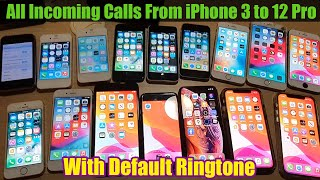 See all the incoming call from iPhone 3 to iPhone 12 Pro - Default Ringtone