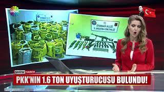 PKK'nın 1.6 Ton uyuşturucusu bulundu!