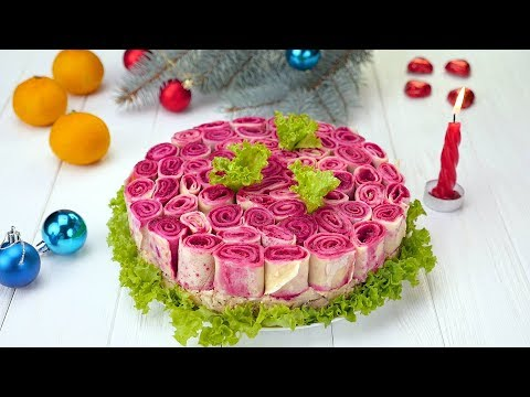 Как приготовить салат «Букет роз» - Рецепты от Со Вкусом