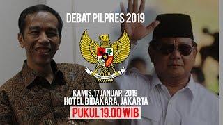 Jadwal dan Live Streaming Debat Capres 2019 antara Jokowi dengan Prabowo di Kompas TV, RTV, dan TVRI