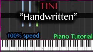 """Tini - """"Handwritten"""" - Piano Tutorial"""