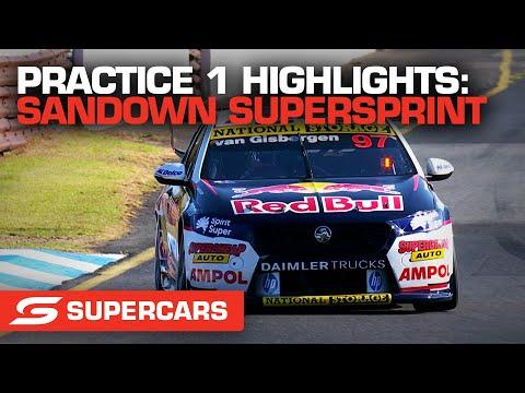 SUPERCARS 2021 Sandown スーパースプリント 練習走行ハイライト動画