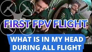 The first FPV DRONE flight: how it feels like / Как ощущается первый полёт на FPV дроне