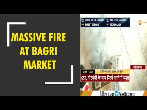 Kolkata: Massive fire breaks out at Bagri Market, fire tenders at spot