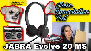 NOISE CANCELLATION TEST & HOW TO OPTIMIZE   JABRA EVOLVE 20 MS