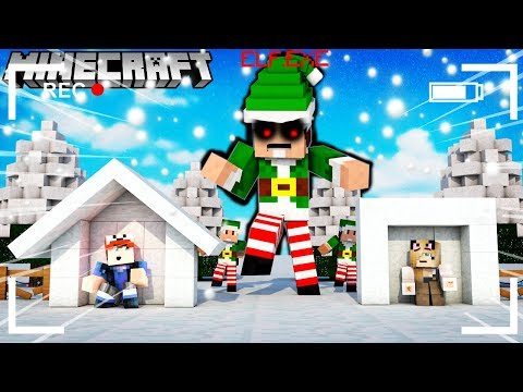 BAZA VS ELF.EXE - MINECRAFT TSUNAMI CHALLENGE | Vito VS Bella