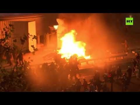 Water cannons & tear gas | Riot police disperse protesters over police security bill