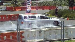 preview picture of video 'Police Braking Distance Demonstration, Full Throttle Manukau, 23 Oct 2010'