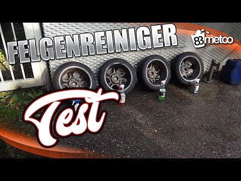 Felgenreiniger Test - Tuga Alu Teufel grün und rot - ValetPro Bilberry Wheel Cleaner - CarPro IronX