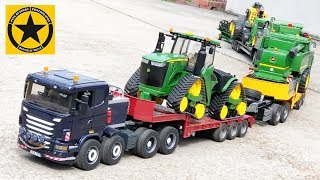 BRUDER Spielwaren MONSTER TRUCK TRAIN ♦ JOHN DEERE heavy gear John Deere 9620RX - Raupentraktor
