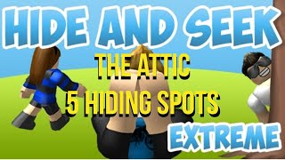 5 Hiding Spots In The Attic | Hide And Seek EXTREME |