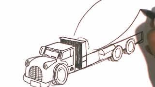 Menggambar Truk Molen 123vid