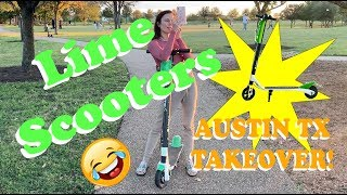 Lime Scooter Austin,Tx TAKEOVER Streets FULL of - Lime Scooters @Mueller