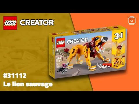 Vidéo LEGO Creator 31112 : Le lion sauvage
