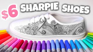CUSTOM CANVAS SHOES with every SHARPIE MARKER Color - Walmart Transformation