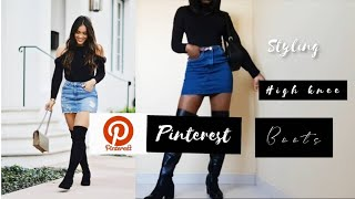 HOW TO STYLE HIGH KNEE BOOTS(STYLE STEAL)| NAMIBIAN YOUTUBER |