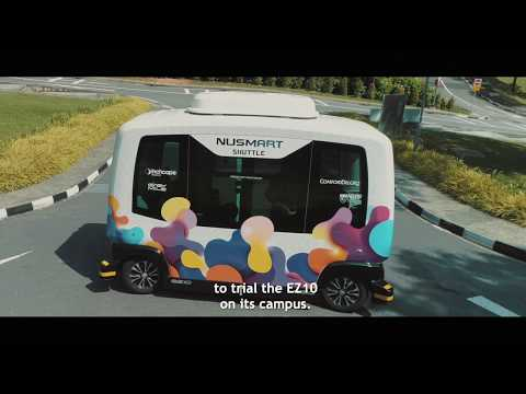 Singapur startete zweite Testphase mit Autonomem E-Shuttle