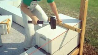 Как завести угол для кладки газоблоков