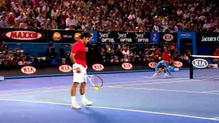 Ball Boy Classic Catch With Roger Federer | Australian Open 2012