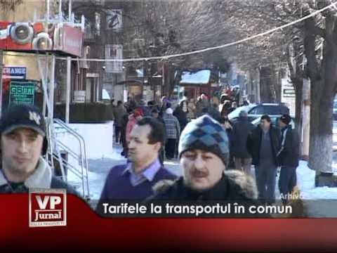 Tarifele la transportul în comun