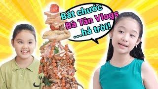 Gia đình là số 1 Phần 2 | Lam Chi đứng hình mất 5s trước dĩa buffet Khổng Lồ và sinh nhật Siêu To