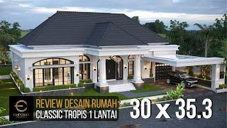 Video Desain Rumah Classic 1 Lantai Bapak Sulthan di  Palembang, Sumatera Selatan