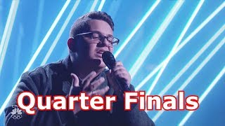 Christian Guardino Sings Make it Rain w Judges Comments Quarter Finals America's Got Talent 2017