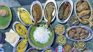 আদর্শ হিন্দু হোটেলে জমিয়ে ভুরিভোজ | Adarsha Hindu Hotel | Ft @Footprints Channel | কাতলা মাছের মাথা