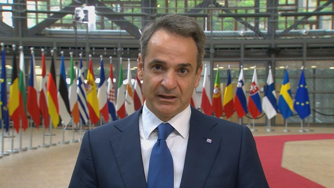 Αφιξη του Κυρ. Μητσοτάκη στην  Σύνοδο Κορυφής στις  Βρυξέλλες