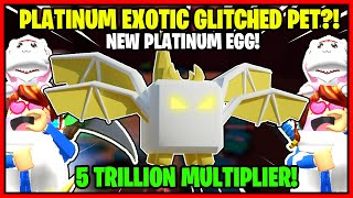 *NEW* TAPPING LEGENDS PLATINUM EGG! I HATCHED THE NEW EXOTIC PET! IT GLITCHED?! - ROBLOX