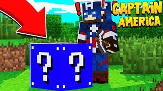 *NO RULES* CAPTAIN AMERICA LUCKY BLOCK SKYWARS - MINECRAFT LUCKY BLOCK MOD | JeromeASF