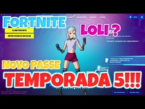 FORTNITE - NOVO PASSE DE BATALHA DA TEMPORADA 5! [Gameplay PC em PT-BR] PARTE 1