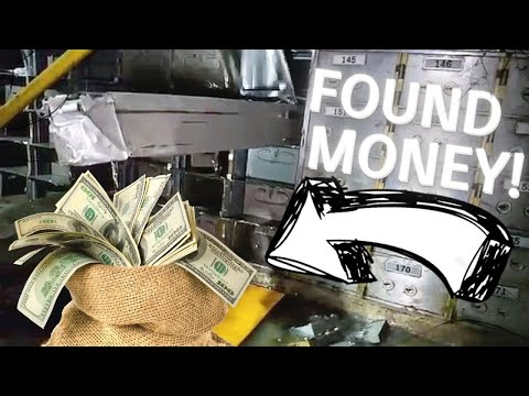 FOUND MONEY IN AN ABANDONED BANK!!! ***THE SAFE WAS UNLOCKED***