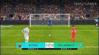 AS ROMA vs REAL MADRID | Penalty Shootout | PES 2018 Gameplay PC